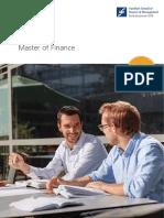 Brochure Master of Finance 2014