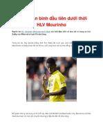 MU Có Tân Binh Đầu Tiên Dưới Thời HLV Mourinho
