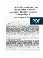 Aguirre Beltrán Del Materialismo Al Culturalismo Utópico