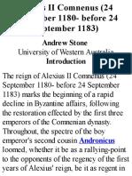 Alexius II - Andrew Stone