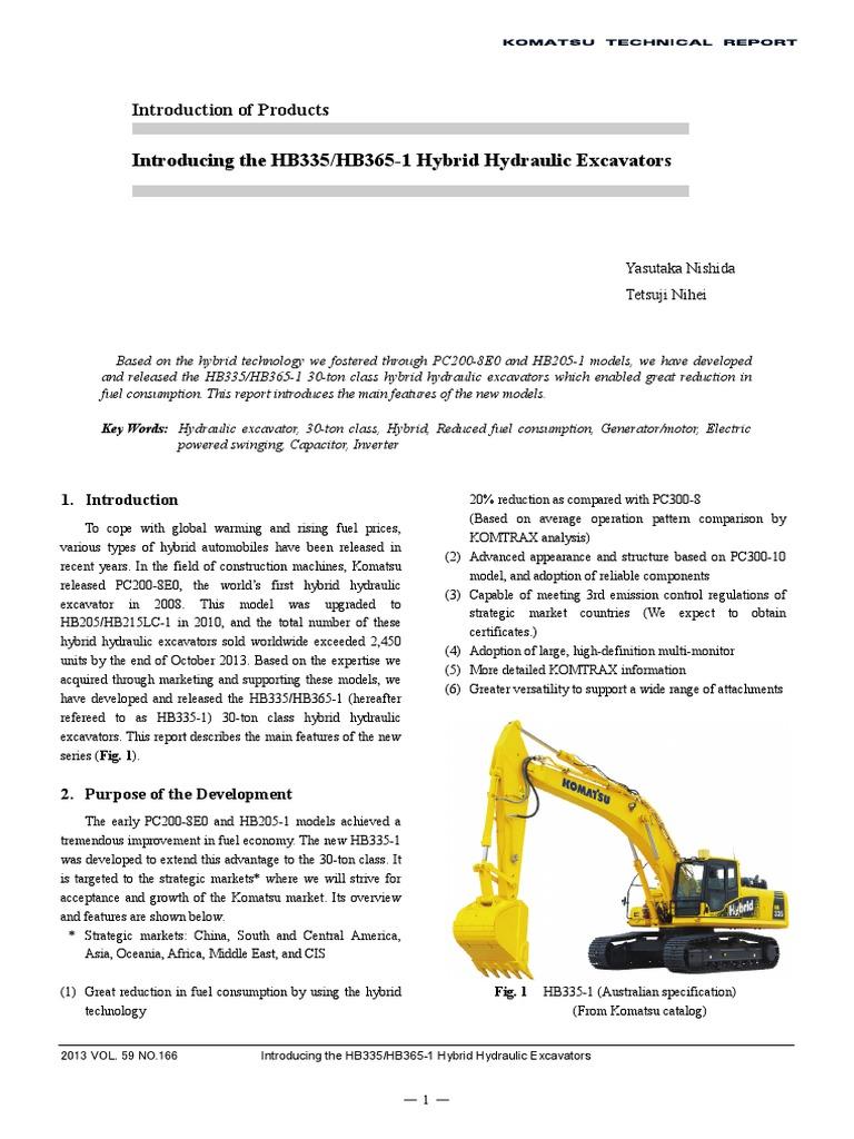 Introducing the HB335/HB365-1 Hybrid Hydraulic Excavators | Hybrid