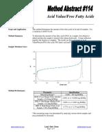 114 Acid Value Free Fatty Acids
