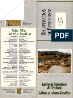 Mammal ichnites Salinas Spain