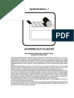 Acoperis Plat Cu Acces