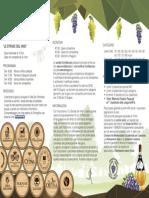 """Pieghevole """"Le Strade del Vino"""""""