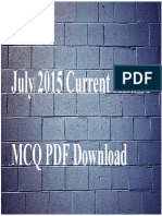 Public Images Epapers 10462 July 2015 Current Affairs MCQ PDF Download
