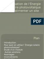 Energie Solaires en Télécommunication
