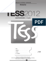 Evaluation jCertificative - TESS - 2012 - Histoire - Questionnaires Et Portefeuille de Documents (Ressource 9225) (2)
