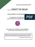 Mathematics Delhi University Syllabus