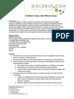 Disk Diffusion Assay Protocol