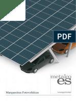 Marquesinas fotovoltaicas