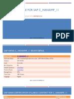 C_hanaimp_11 Exam Detail and Preparation Guide