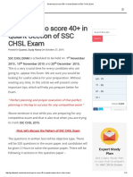 Smart way to score 40+ in Quant Section of SSC CHSL Exam