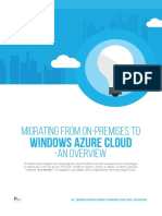 Migrating From on-Premises to Windows Azure Cloud-An Overview