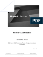 SQL 2012 Performance Tuning Module 1 Architecture Student Lab Document