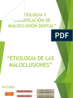 181490308 Etiologia y Clasificacion de Maloclusion Dental