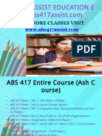 ABS 417 ASSIST TEACHING EFFECTIVELY / abs417assist.com