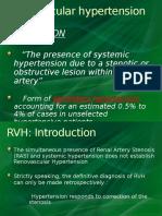 Renovascular Hypertension (RVH)Seminar