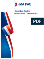 FMA candidate questionnaire
