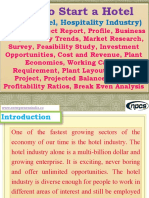 How to Start a Hotel (4 Star Hotel, Hospitality Industry) Detailed Project Report, Profile, Business Plan, Industry Trends, Market Research, Survey, Feasibility Study, Investment Opportunities, Cost and Revenue, Plant Economics, Working Capital Requirement, Plant Layout, Cost of Project, Projected Balance Sheets, Profitability Ratios, Break Even Analysis