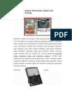 Perbedaan Antara Multimeter Digital Dan Multimeter Analog