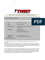 Twist Master Trainer Contract 2014