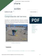 Comprobación Del Terreno - Arquitectura y Construcción Básica