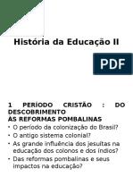 História Da Educação II
