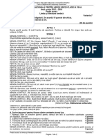 Evaluarea Nationala Limba Romana 2016 Var 07