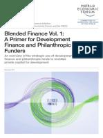 WEF Blended Finance a Primer Development Finance Philanthropic Funders Report 2015