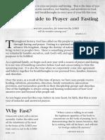 Prayer & Fasting (English Manual)