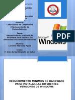 Requerimiento Minimos de Hardware Para Instalar Windows