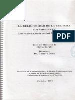 La Religiosidad en la cultura postmoderna