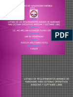 Listado de Requisitos de Hardware Para Sistemas Operativos