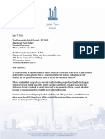 Mayor's Letter to Federal and Provincial officials on guns and crime