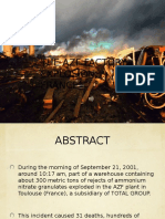 The Azf Factory Explosion