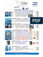 Lista Maquinarias COBO 31