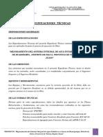 Especificaciones Tecnicas Reservorio 15m3