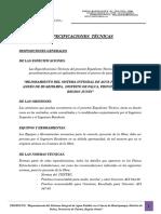 Especificaciones Tecnicas Camara Rompe Presiòn