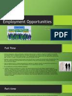 employment opportunities pdf