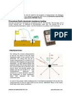 Earth Electrode Resistance Testing