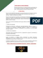 Constitucion de una empresa en el Peru