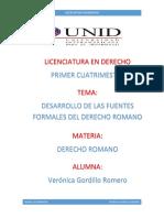 Tarea 2.- Desarrollo de Las Fuentes Formales Del Derecho Romano