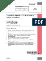 Matura 2016 - biologia - poziom rozszerzony - arkusz maturalny (www.studiowac.pl)