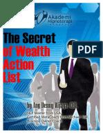 Secret of Wealth Action List