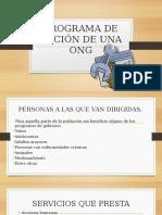 PROGRAMA DE ACCIÓN DE UNA ONG