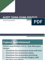 Audit Dana-dana Khusus Audit Internal Pe