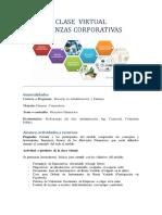 plantilla objetivos clase virtual - finanzas corporativas