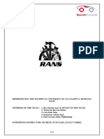 Formal and Content Requirements of the Documentation 2013