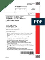 Matura 2016 - francuski - poziom podstawowy - arkusz maturalny (www.studiowac.pl)